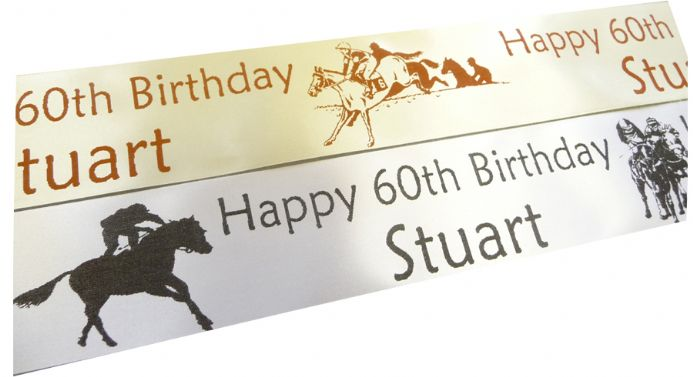 HORSE RACING PERSONALISED RIBBON